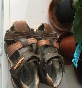 Кожаные сандали 14,5см по стельке