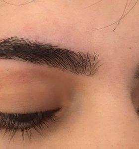 Коррекция бровей, удаление волос на лице.