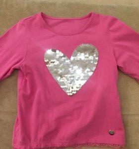 Кофта детская с сердцем , 3–4-5 лет , 110-116