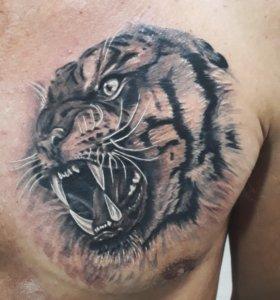 Художественные татуировки любой сложности