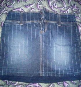 Джинсовая юбка, 46-50 р-р