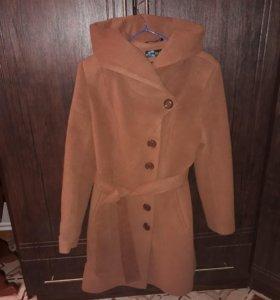 Кашемировае пальто новое осень-весна размер 46