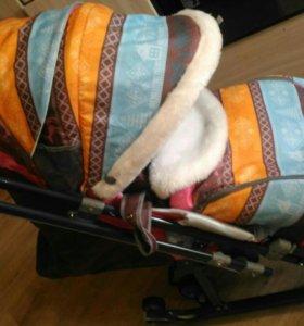 Санки коляска Ника 7.3