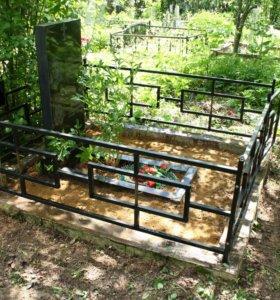 Покраска, уборка на кладбище