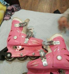 Ролики детские Roces + комплект защиты