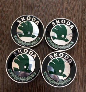 Колпачки ступицы на литые диски Skoda
