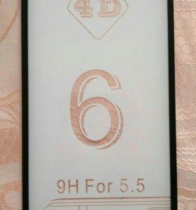 Стекло 4D на айфон 6 plus