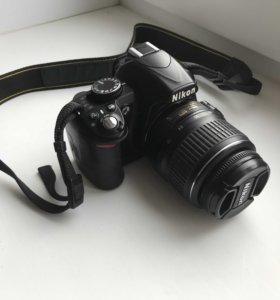 Фотоаппарат Nikon D3100, с обьективом 18-55 мм