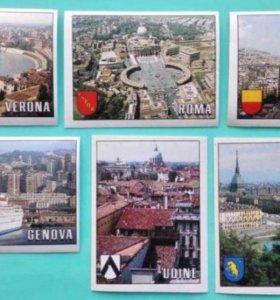 Наклейки Panini Чемпионат Мира 1990 Города Панорам