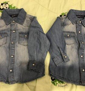 Джинсовая рубашка 74 размер