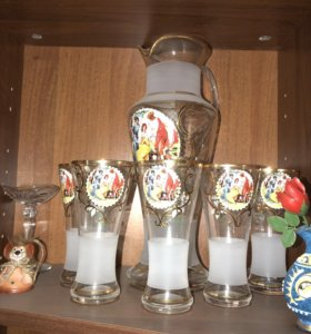 Кувшин и стаканы набор