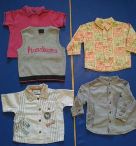 Рубашки для мальчика 74 - 80 размер