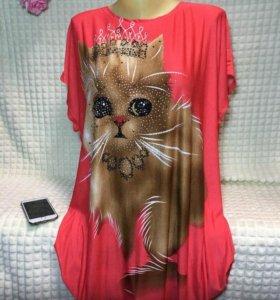 Блуза, размер 54-60