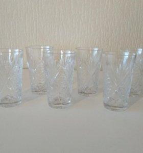 Хрустальные стаканы рюмки
