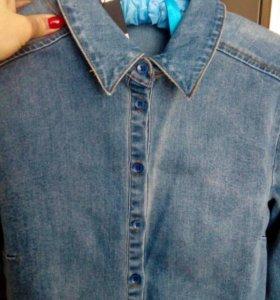 Новая рубашка джинсовая LOST INK