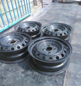 Штампованые диски R 14. 4х 100
