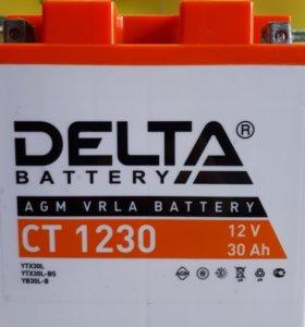 Мото аккумулятор - DELTA CT1230 AGM