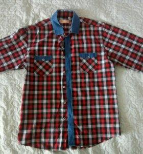 Рубашка клетчатая мужская