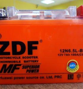 Мото аккумулятор ZDF 1207 GEL
