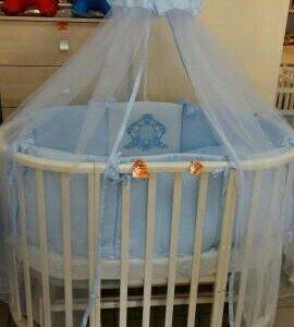"""Детская кроватка """"ариша"""" 7 в 1 + маятник."""