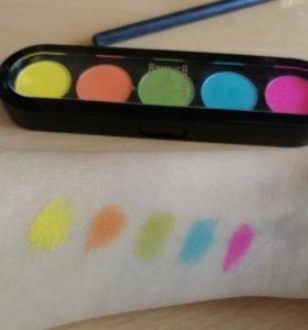 тени для век make-up atelier палетка Т23