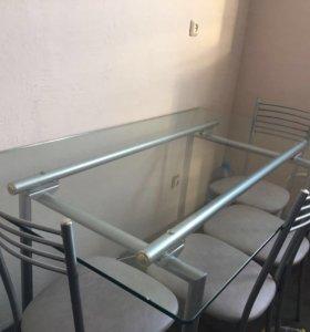 Продам комплект стол стеклянный и стулья