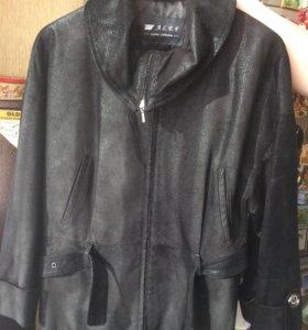 Куртка нубуковая/ кожаная 44 размера