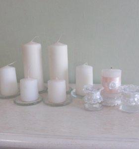 Набор свечей для свадьбы/декоративного камина.