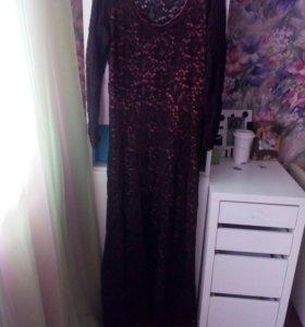 Вечернее кружевное платье!
