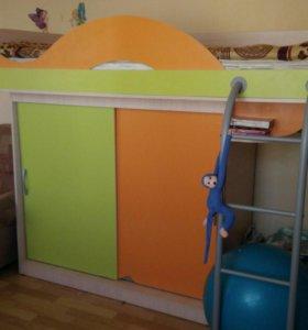 Кровать - шкаф-купе