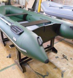 Надувная моторная лодка 330 со складным настилом