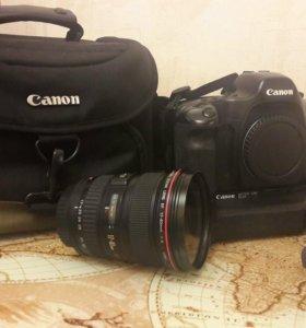 Фотоаппарат и объектив canon