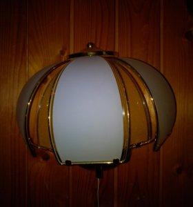 Настенный светильник. Метал, стекло. Лампочка Е14,
