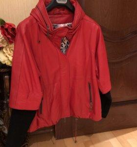 Продам срочно!!! Кожаная куртка фирмы IVAGIO
