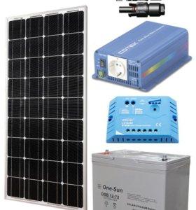 Автономная Солнечная Электростанция З00 Вт