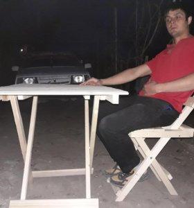 Склодные столы стулья
