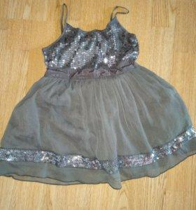 Платье Next и кофта Acoola