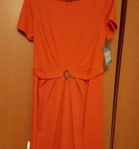 Платье на лето оранжевое