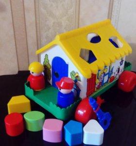 Логический домик на колесиках