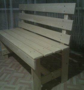 Скамья деревянная 120*85*38см