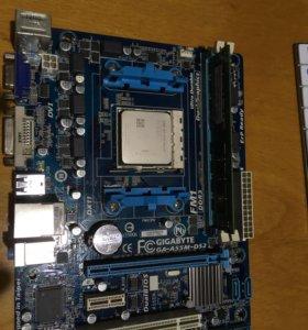 Комплект материнская плата, процессор, память ddr3