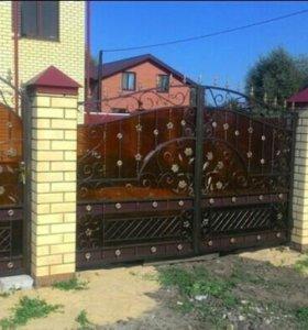 Ворота навесы козырек сварка кованые ворота