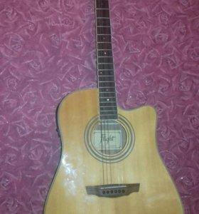 Электроакустическая гитара flight ad-200ceqna