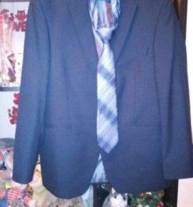 Пиджак мужской+ галстук + белая рубашка ( классика