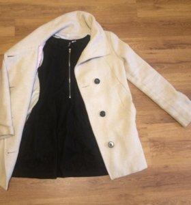 Пальто + платье