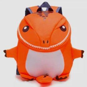 Рюкзак детский Дино оранжевый