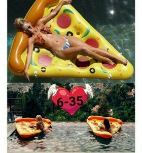 Надувной ломтик пиццы размер 180см*150см