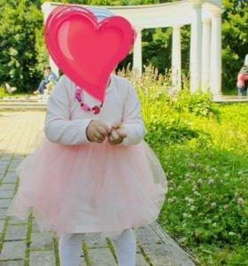 Платье на принцессу 86см