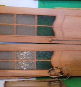 межкомнатная двойная дверь с коробкой