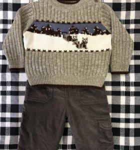 Свитер + брюки, рост 62-68